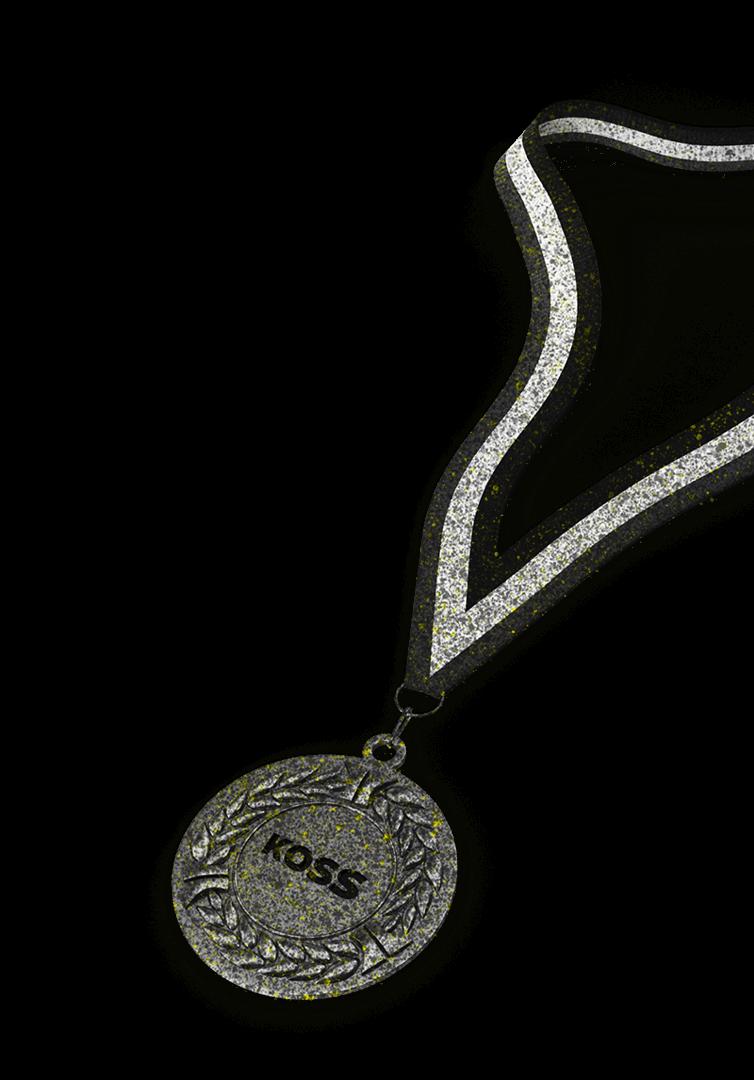 élément graphique des cabinets de kiné du sport et d'ostéopathie du sport KOSS Paris - Kiné paris 15 - Kiné Paris 16 - Kiné Paris 7 - Kiné Paris 8 - Médaille - Crossfit