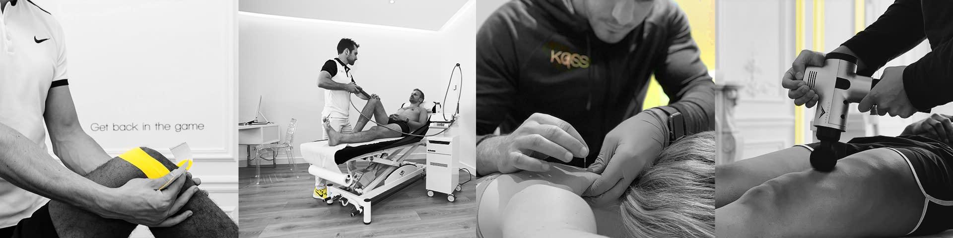 4 Séances de kinésithérapie avec des coach spécialistes du sport et des patients en rééducation