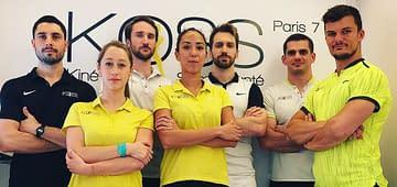équipe des kinés du cabinet de kiné du sport et ostéo du sport KOSS Paris 7
