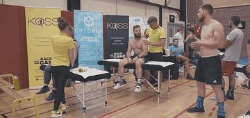 Séance de kiné événement auquel participe les kiné du sport et ostéo du sport des cabinets KOSS Paris 7 et KOSS Paris 8